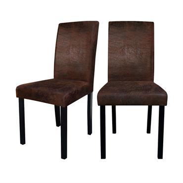 Chaise en tissu polyester marron
