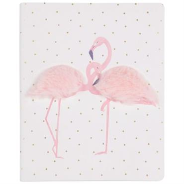 Carnet de notes imprimé flamant rose
