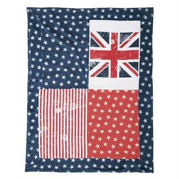 Plaid en coton imprimé drapeaux 130x160