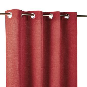 Rideau à illets rouge 140x300