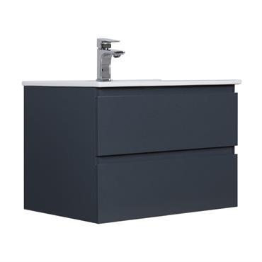 Meuble de salle de bain avec vasque Gris Foncé