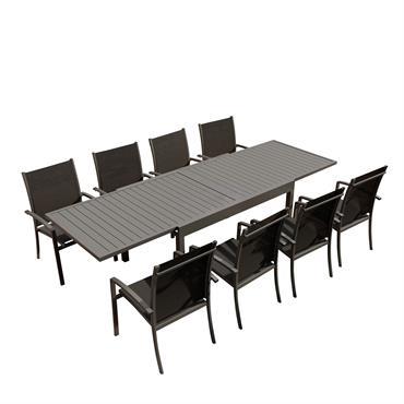 Cette table de jardinANDRA convivial et raffinéconviendra très bienà vos espaces détente intérieurs etextérieurs, elle trouvera sa place sur la terrasse, dans le jardin, au bord de la piscine mais ...
