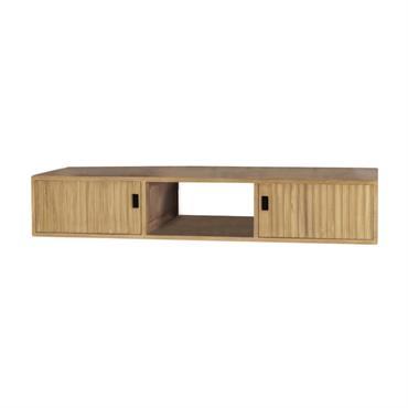 Meuble de salle de bain suspendu sous vasque en teck L145cm