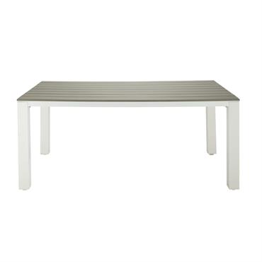 Table de jardin 6 personnes en aluminium et composite L180 Escale