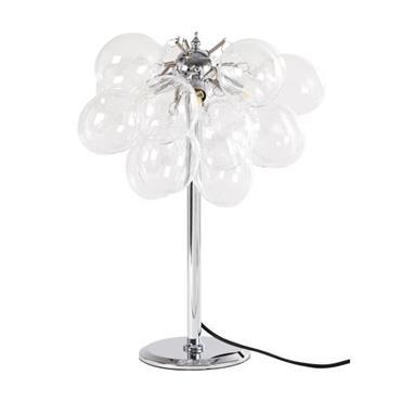 Lampe en métal et globes en verre