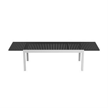 Table de jardin extensible 8 à 12 personnes en aluminium blanc