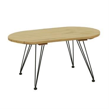 Table basse en bois de manguier pieds en métal noir