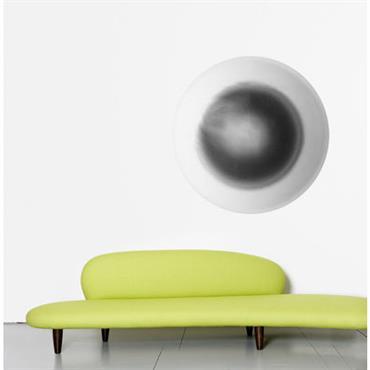 Papier peint Eclipse / Ø 93 cm - Domestic gris en papier