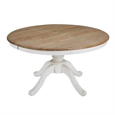 Fonctionnelle et incroyablement raffinée, offrez à votre intérieur le chic qu'il désire avec cette table de salle à manger ronde extensible PROVENCE !Porté par un impressionnant pied blanc à l'aspect ...