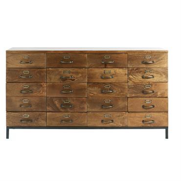 Un artiste se cache en vous ? Alors imaginez le comptoir indus 20 tiroirs en manguier HIPSTER, placé dans votre entrée ou votre salon. Composé en manguier massif et en ...