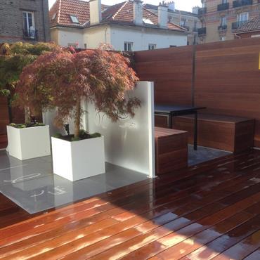 Ce projet rassemble un échantillon des terrasses et balcons réalisés par Scènes d'extérieur  Domozoom