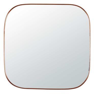 Miroir carré en métal cuivré 100x100cm BARBARA