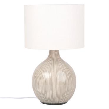 Lampe en céramique et abat-jour blanc