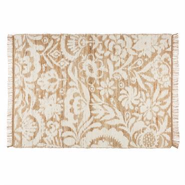 Tapis en jute et coton blanc 140x200cm LUKILA