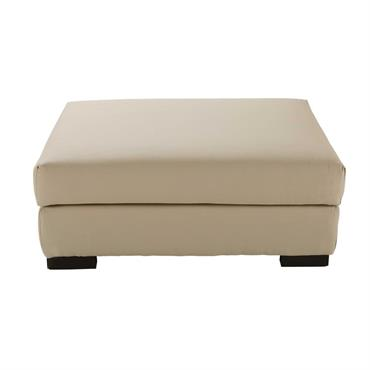 Pouf de canapé modulable en coton mastic Terence