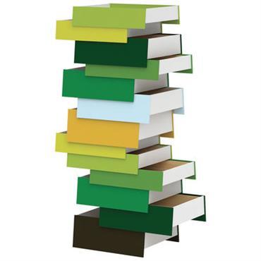 Commode Stack / 13 tiroirs - Established & Sons vert en métal