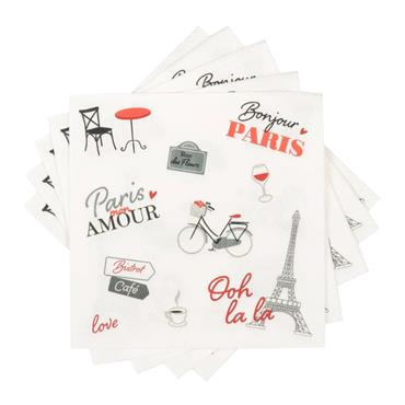 Serviettes en papier imprimé vélo