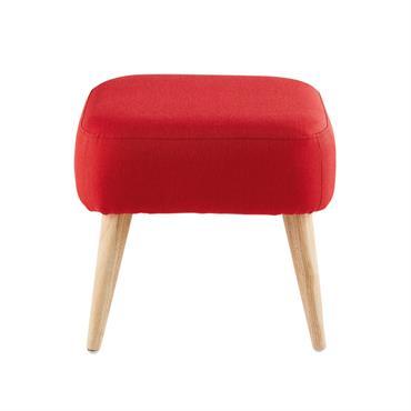 Le tabouret rouge ELWOOD réchauffera et diffusera chez vous une énergie dynamisante ! Découvrez l'accord parfait entre les pieds en hévéa et le revêtement en tissu rouge. Côté confort, vous ...