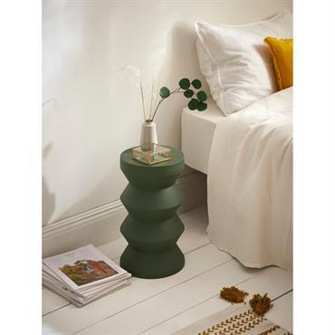 Petite table bobine métal vert