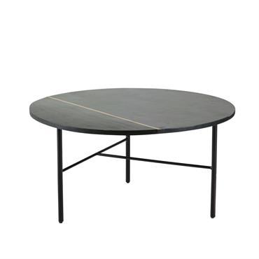 Table basse ronde noire Jagger