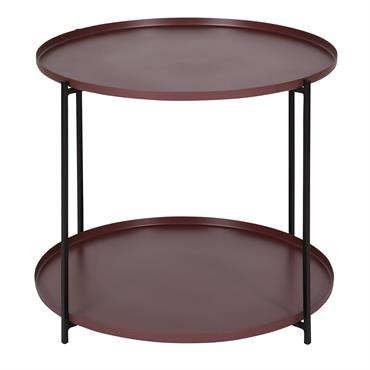Table basse métal prune ronde D56