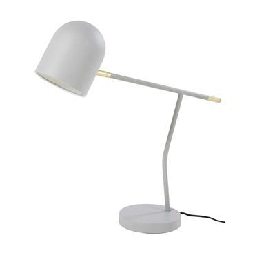 Lampe vintage en métal gris et doré