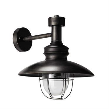 Applique en métal noir vieilli H 34 cm AMARRAGE