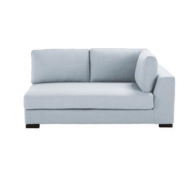 Accoudoir droit de canapé 2 places bleu glacier Terence