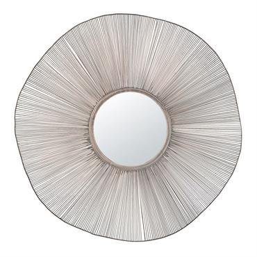 Miroir rond filaire noir D100