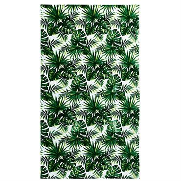 Serviette de plage en velours éponge imprimé tropical 100x180