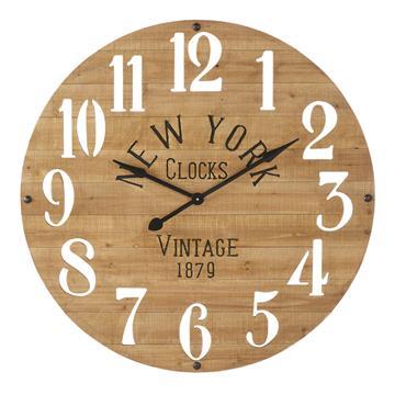 Horloge en sapin chiffres ajourés D98
