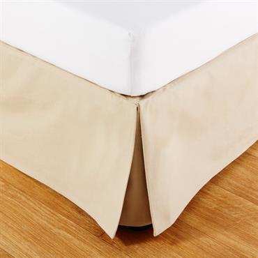 Cache-sommier 160x200 en coton beige