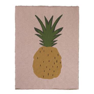 Plaid enfant Ananas / 80 x 100 cm - Coton
