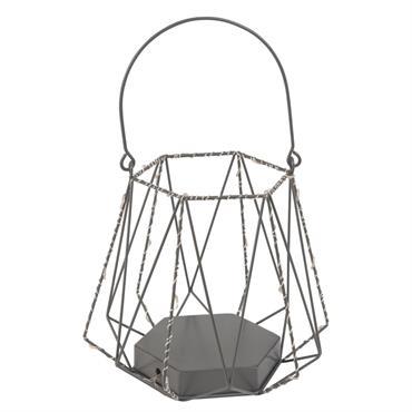 Lanterne en métal avec LEDS