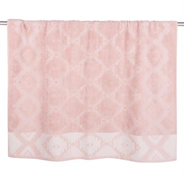 Drap de bain en coton motifs graphiques 100x150