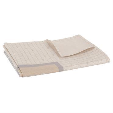 Nappe en coton imprimé gris anthracite 140x200