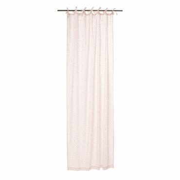 Rideau à nouettes en coton rose motifs étoiles à l'unité 102x250