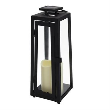 LANTERNE SOLAIRE LED : Tower Light est une lanterne sans fil LED blanc froid. Cette lanterne solaire se distingue par son design élégant et moderne, sa lumière effet bougie, mais ...