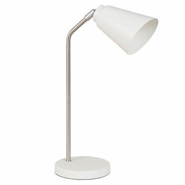 Lampe de bureau en métal ivoire
