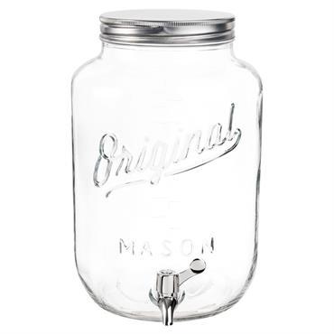 Distributeur de boisson vintage en verre