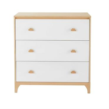 Commode enfant 3 tiroirs blanche Moonlight