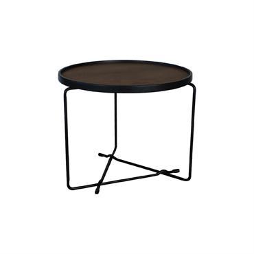 Petite table basse design bois métal