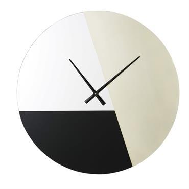 Horloge en métal doré et miroirs teintés D88