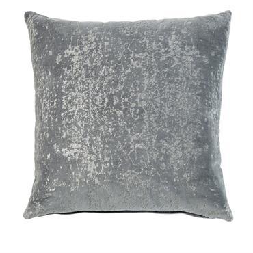 Coussin en velours gris à paillettes dorées 45x45