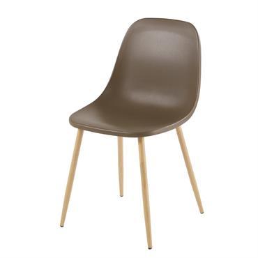 Chaise contemporaine vert kaki Fibule