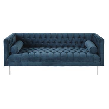 Laissez-vous transporter jusqu'à l'océan avec le canapé 3 places en velours bleu pétrole LIAM . Son look vintage revisité apportera une touche design et originale à votre intérieur. Son revêtement ...