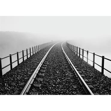 Tableau métal urban rails 32x45
