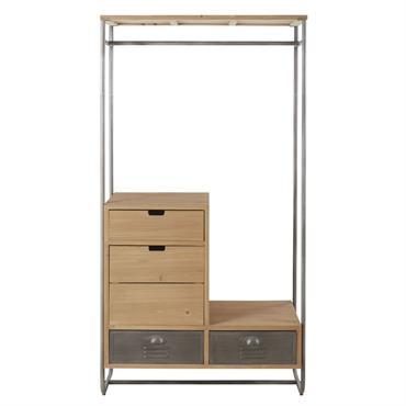 Le portant 4 tiroirs en métal et sapin massif HARVEY débarquera-t-il dans votre intérieur ? Ses lignes minimalistes s'associent au bois de sapin et au métal pour un rendu un ...