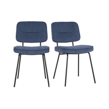 Craquez pour le lot de 2 chaises ZEZA au look moderne bien prononcé et offrez un peu de fantaisie à votre salle à manger contemporaine. Vous allez apprécier l'ambiance reposante ...