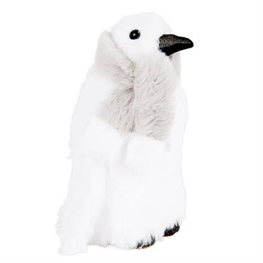 Déco de Noël pingouin blanc écharpe grise H16